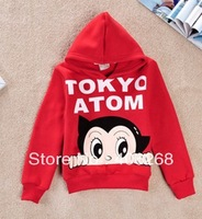 free shipping   spring children Sweatshirts   cute Astro Boy  boy's hoodies long-sleeved T-shirt  best quality