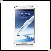 500pcs/lot High Quality Screen Guard Film Front+ Cloth For Samsung Galaxy Note II 2 N7100 Screen Protector DHL or Fedex ship