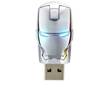 T31 free shipping The unique iron man model USB 2.0 Enough Memory Stick Flash pen Drive   64GB/128GB Silver