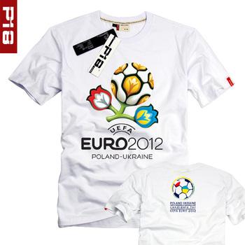 European cup short-sleeve memorial t-shirt male Women football cup short-sleeve T-shirt fans