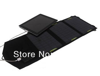 New ! 10.5W Foldable Solar Charger+DC/USB Bouble Output Battey Charger For iphone Solar Panel Charger+Waterproof  Free Shipping