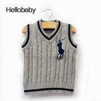 Children vest boys outerwear coats sleeveless V-neck sweater vests hhbb113