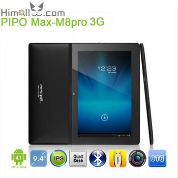 3G SIM Slot Tablet MID PIPO M8 Pro RK3188 Quad Core 1.8GHz 9.4 Inch Android 4.1 Dual Camera 2GB DDR3 Mali400 GPU Free Shipping