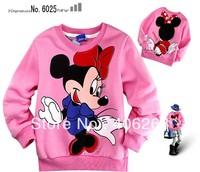 free shipping   spring children Sweatshirts   cute mickeys girl's t-shirt   Long-sleeved