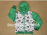 free shipping  fashion  spring children coat mickeys kids Outerwear zipper hoodies