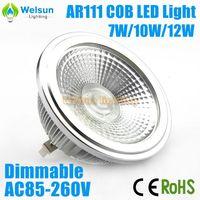 6X AC85-260V Dimmable 7W/10W/12W AR111 COB LED Lamp GU53 LED Light Bulbs Warm Cold White