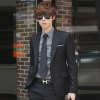 Male slim blazer set male suit male suit