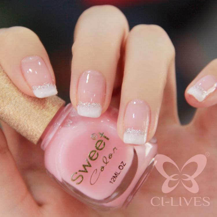 Normal nail polish with uv light