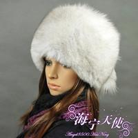 Chopop Fur Free Shipping! Best Christmas gift! sweet! New Arrival Fashion women 100% genuine fox hair hat +fashion+warm