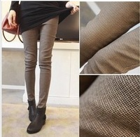 2013 spring women's slim plaid trousers legging pencil skinny pants casual pants