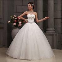 Newest Design Boutique Elegant Rhinestone Bride Princess Wedding Dress / Bridal Gown Free Shipping!