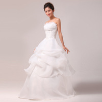Newest Arrive Design Boutique Simple And Elegant Bride Princess Wedding Dress / Bridal Gown Free Shipping!