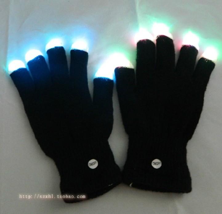 Finger Light Shows Led gloves rave light show