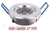wholesale big lens high power 1W led ceiling down light for home moving head lights lamp 85V-265V input  10pcs/lot