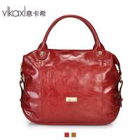 Ms. Italian Cashin handbag bag oil wax leather shoulder bag leather single Messenger Bag