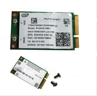 Free Shipping Intel WIFI +WIMAX 5150  Wireless Network Card For  Lenovo G430 G450 Y430 Y450 E43 E43L K43 SL300 SL400 SL400C