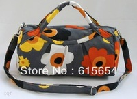 2013 NEW Small Travel Duffle Bags(32*17*14cm)Sunflower Printing Canvas Handbags for Women's Makeup Shoulder Bag Free Shipping
