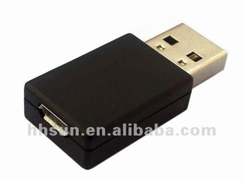 [FREE SHIPPING/EPACKET!] 2pcs/lot Male to Female USB to Micro USB Connector Adapter
