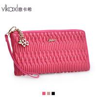 2012 new Lingge of Italian Qax handbags handbags upscale clutch bag leather bag sheepskin Clutch