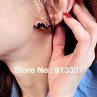 12Pair Lovely Retro Avanti beard style Stud Earring Best Gift For Lady Girl