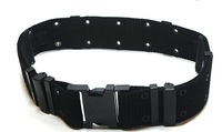 US military sporting style combat webbing belt (Black)