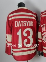 Free shipping ice hockey Detroit #13 Pavel Datsyuk 13  red color 2014 winter classic style cheap Jersey jerseys hot sale HY