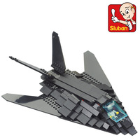 M38-B0108 Enlighten Kid Sluban Invisible Bomber  Air Forces Series F117 Model Building Block Brick Set