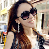 6 colors!!! 2014 Fashion Vintage Star Female Sunglasses Big Black sunglasses women brand designer Fashion Stylish Glasses