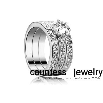 ITALINA Platinum Plated crystal femininity Ring Free shipping- countess jewelry(China (Mainland))