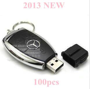 100pcs/lot Free Shipping 2013 NEW 32GB 64GB 128GB Car key USB Flash Disk Drive