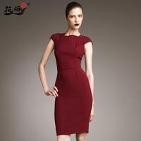 Free shipping 2013 spring new arrival women's fashion elegant slim one-piece dress High waist formal dress high quality dress