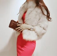 Free shopping Fashion women's fur coat luxury women's outerwear overcoat 8562  D738