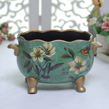 Fashion vintage ceramic vase crack fashion brief home decoration flower pot flower