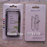 Free ship for LG E960 Nexus 4 bumper middle transparent and with retail package
