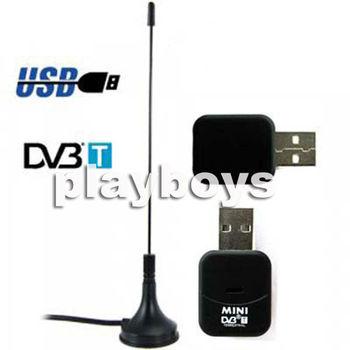 Free shipping New Mini Digital Signal DVB-T HDTV TV Tuner USB 2.0 Stick Recorder Receiver