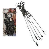 Free Shipping Cosplay Hunter x Hunter Kurapika 5 Ring Chain Charms Anime Product Accessories