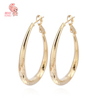 ER0341 29mm Fashion Hoop Earrings 18k Gold Plated for Lead and Nickel Free kuniu jewelry