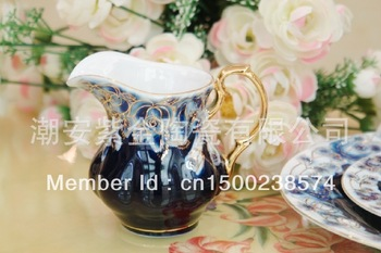 Manufacturers selling the Middle East/European high-grade gold ceramic coffee milk pot cup gift suit tea accessories