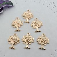 wholesale Peace tree accessory 20*16MM KC Gold peace tree pendant 40pcs / lot free shipping