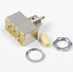New Chrome Box Style 3 Way Closed Toggle Switch For Electric Guitar Cream Knob(China (Mainland))