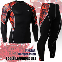 {No.JSYC2LB2} FIXGEAR  Polyester High-quality Compression Cycling/Sports Base Layer Long Sleeve Jersey & Pants