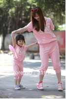 2013 new Family Pack cotton wings paternity short-sleeved suit mother dress two-piece