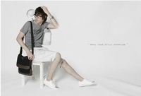 2012 Man Bag Shopping Casual Pu Canvas Messenger Bag
