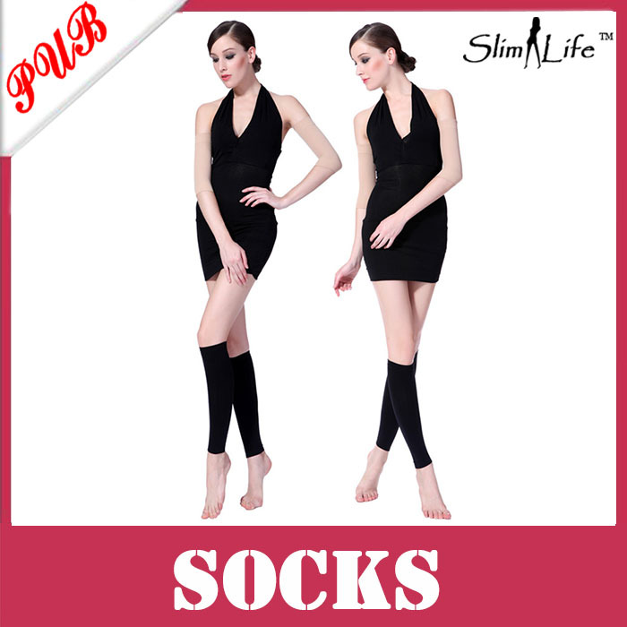 Hot Sale Ladies Shapewear Pressing Sleeping Beauty Massage Leg shaper Slimming Leggings SOC002(China (Mainland))
