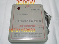 Red 3000w 110v 220v transformer voltage converter picture of details