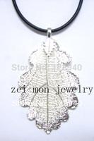 sterling silver plating natural cutting oak leaf pendants for gifts
