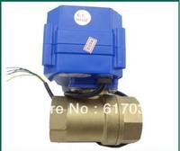 "motorized ball valve.220v. 2 way. 1/2"" DN15. electrical valve. motorized valve  /freeshipping"