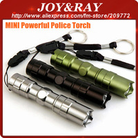400Pcs Express Free Shipping New style Mini 3W Police high power light, police LED Flashlight, pocket Flashlight lamp