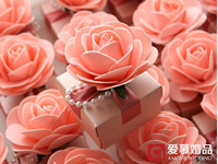 30Pcs/Lot Free Shipping Beautiful Pink Flower Candy Boxes Wedding Favorite Gift Box