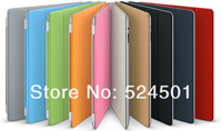 New Arrival Wholesale protective iPad 2/3/4 Smart Cover Slim Magnetic PU Leather Case Wake Sleep Stand Multi-Color,Freeshipping